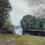 A Turn of the River Loing, Summer – Alfred Sisley