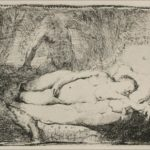A Woman Lying on a Bed – Rembrandt