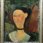 A woman with velvet ribbon – Amedeo Modigliani