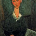 A woman with white collar – Amedeo Modigliani
