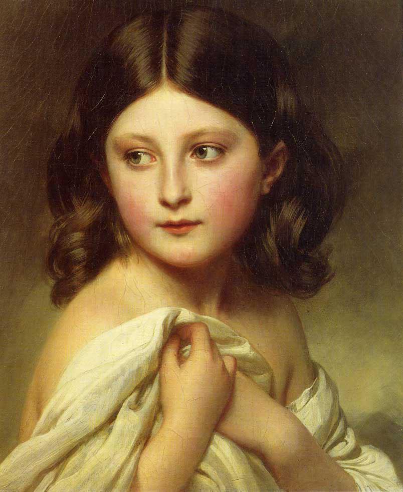 A Young Girl Called Princess Charlotte - Franz Xaver Winterhalter