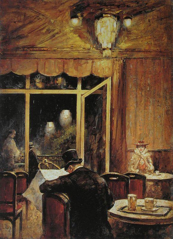 Abend Im Cafe Bauer - Lesser Ury