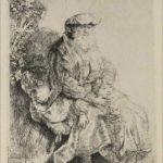 Abraham Caressing Isaac - Rembrandt