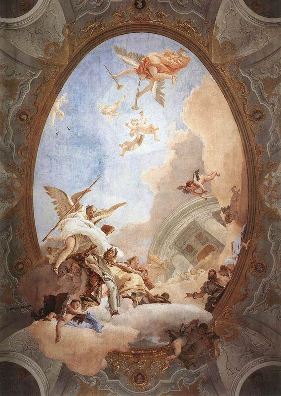 Allegory of Merit Accompanied by Nobility and Virtue - Giovanni Battista Tiepolo