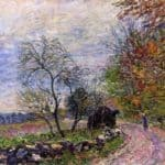 Along the woods in Autumn – Alfred Sisley