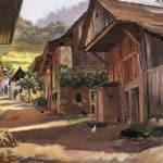 Alps. Village in the Savoie – Zinaida Serebriakova