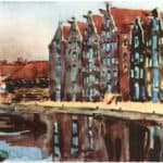 Amsterdam. The Old Warehouses. – Anna Ostroumova-Lebedeva