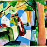 At the cemetery – August Macke