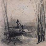 At the cemetery – Aleksey Savrasov