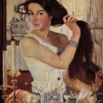 At the dressing table – Zinaida Serebriakova
