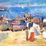 At the Shore (Capri) – Maurice Prendergast