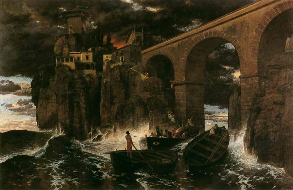 Attack by Pirates - Arnold Bocklin