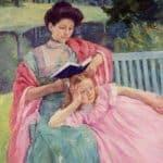 Auguste Reading to Her Daughter – Mary Cassatt