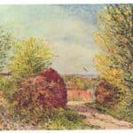 Away in the spring Veneux Nadon – Alfred Sisley