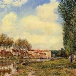 Banks of the Loing at Moret, Morning – Alfred Sisley