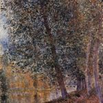 Banks of the Loing, Autumn – Alfred Sisley