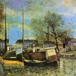Barges on the Saint Martin Canal – Alfred Sisley