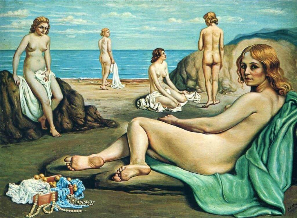 Bathers On The Beach - 1934 - Giorgio De Chirico