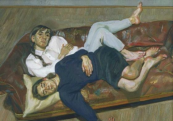 Bella and Esther - Lucian Freud