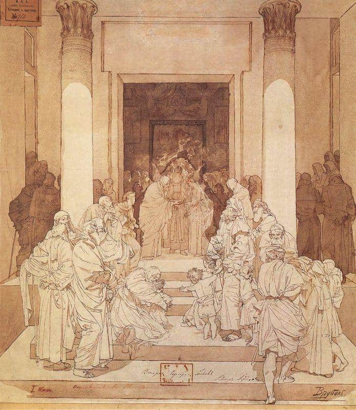 Betrothal Of Mary and Joseph - Mikhail Vrubel