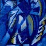 Blue on Tin – Olga Rozanova