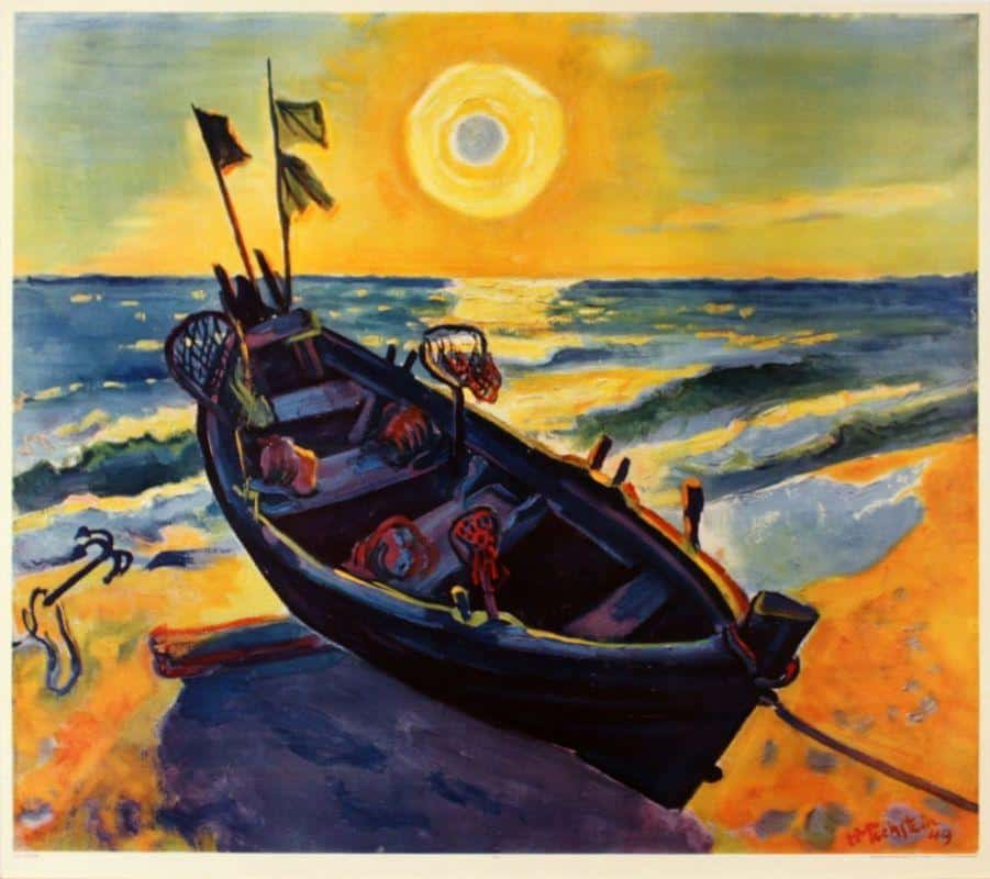 Boat At Sunrise – Max Pechstein