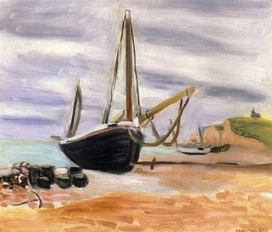 Boats At Etretat - Henri Matisse