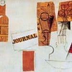 Bottle, glass, violin – Pablo Picasso