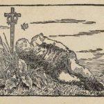 Boy sleeping on a grave – Caspar David Friedrich