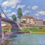 Bridge at Villeneuve la Garenne – Alfred Sisley