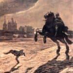 Bronze Horseman. Design for a cover to Pushkin's poem.  – Alexandre Benois