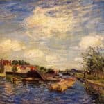 By the Loing – Alfred Sisley