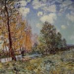 By the River – Alfred Sisley