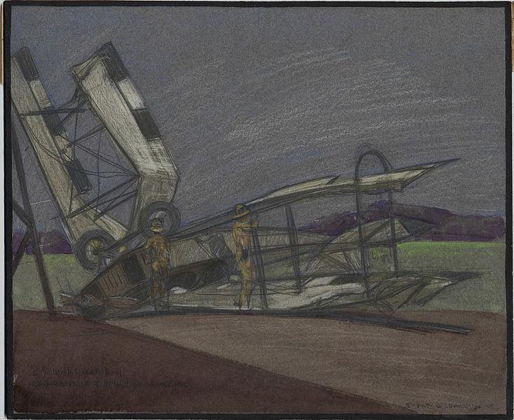 C Flight Machine Cracked on Hangar B - Frank Johnston