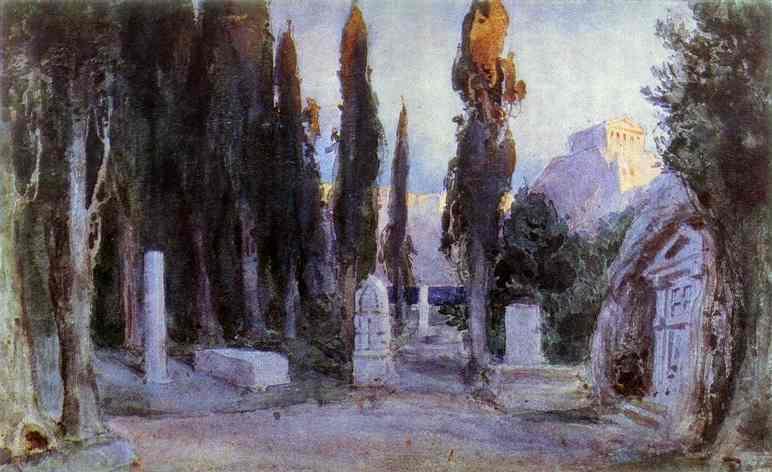 Cemetery - Vasily Polenov