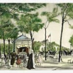 Champs Elysees  – Tsuguharu Foujita