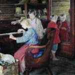 Children at the Piano – Nikolay Bogdanov-Belsky