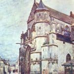 Church at Moret after the Rain – Alfred Sisley