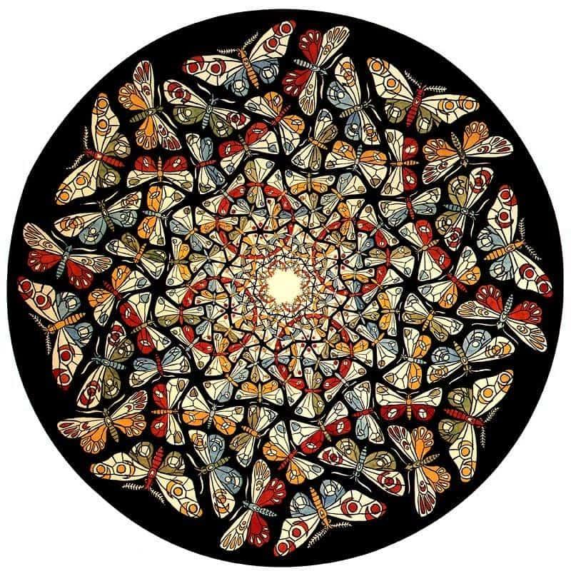 Circle Limit With Butterflies - M.C. Escher