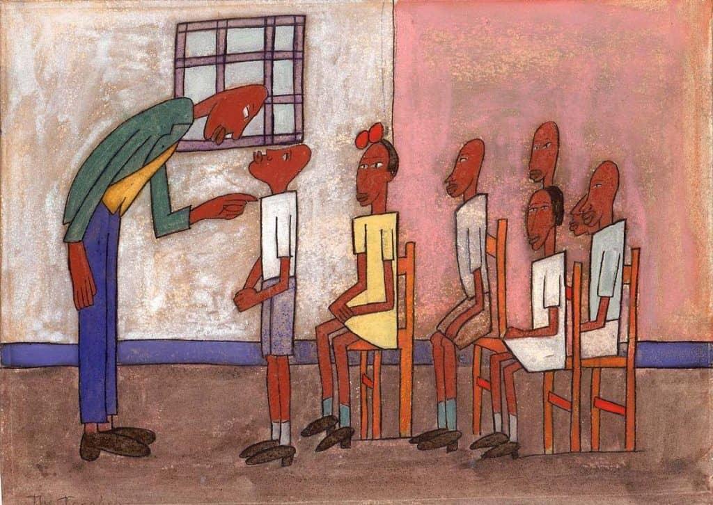 Classroom Scene - William H. Johnson