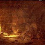 Cottage Interior with a Family around the Hearth – Adriaen van Ostade