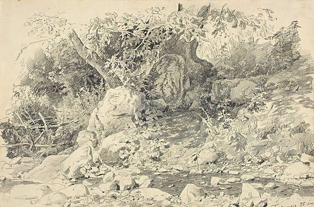 Creek in Gurzuf - Ivan Shishkin