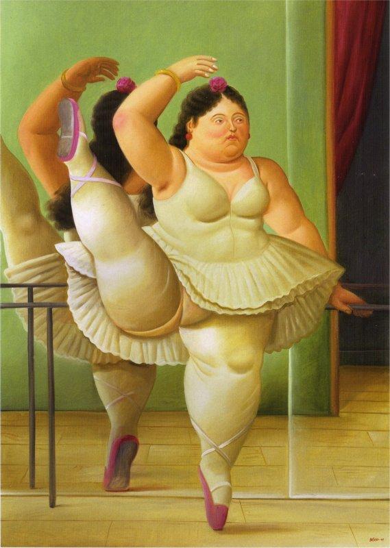 Dancers At The Bar - Fernando Botero