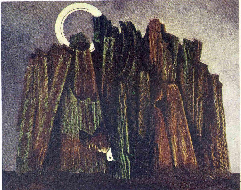 Dark Forest and Bird - Max Ernst