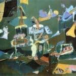 Dark Green Painting – Arshile Gorky