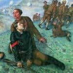 Death of Commissar – Kuzma Petrov-Vodkin