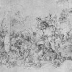 Design for the Fugger Chapel in Augsburg Samson fighting the Philistines – Albrecht Durer