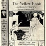 Design (unused) for the cover of Volume IV of 'The Yellow Book' – Aubrey Beardsley