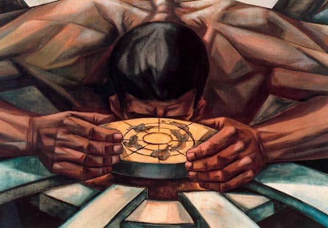 Mural of Human Rights. Emblem Un (Detail) - Vela Zanetti