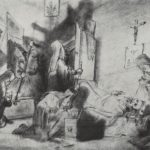 Dividing the inheritance in a monastery (Death of a monk)  – Vasily Perov